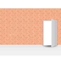 Vintage Pattern Wall door vector