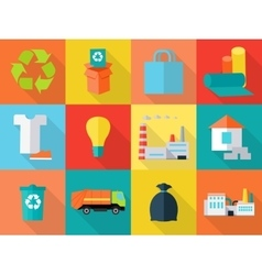 Waste Recycling Icons Sign Symbols Sorting Waste vector image