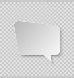 white blank retro speech bubble isolated on vector image