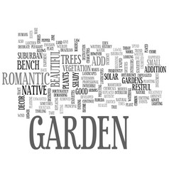 why add decor to your garden text word cloud vector image