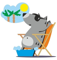 Wolf dreaming about vacation 04 vector