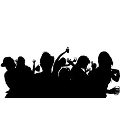 Dancing Crowd Silhouette vector image