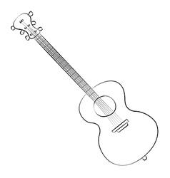 Guitar01 vector image vector image