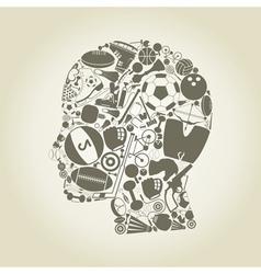 Head sports vector image vector image