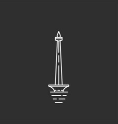 indonesia landmark in outline style vector image vector image
