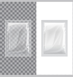 Set of blank template packaging foil wet wipes vector