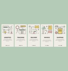 thin line flat design e-commerce concept vector image vector image