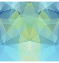 Background made of blue green triangles Square vector image vector image