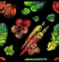 beautiful hand drawn vegetable vector image