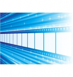 blue film vector image vector image