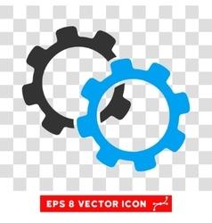 Gears Eps Icon vector image vector image