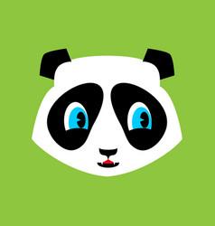 panda cute emoji chinese bear nice face vector image vector image