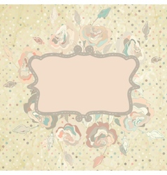 Pastel Floral Invitation Template vector image vector image