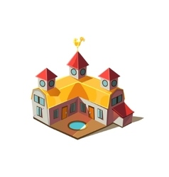 Rancho house simplified cute vector