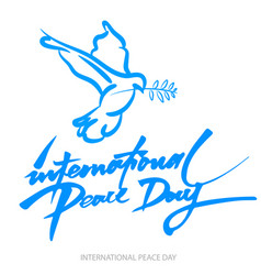 blue background for international day of peace vector image