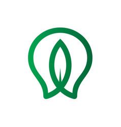 bulb eco leaf logo vector image