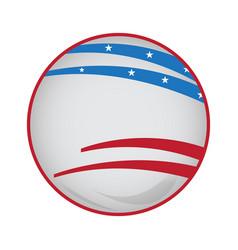 empty american campaign button vector image