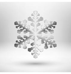 Abstract metal Christmas snowflake vector image
