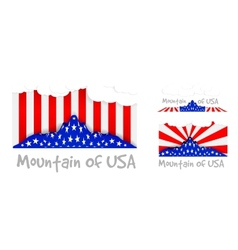 American mountain as the United States flag vector image