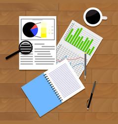 analysis of statistics vector image