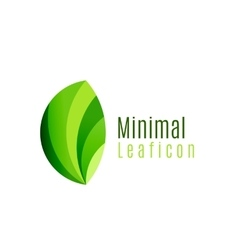 Green eco leaf icon created with circle shapes vector image