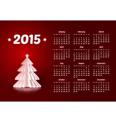 2015 new year calendar with realistic paper vector image
