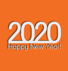 2020 creativity inspiration concept orange vector image
