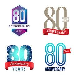 80 years anniversary symbol vector