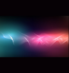 abstract background with dots lines vector image