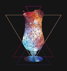 Abstract polygonal tirangle cocktail vector