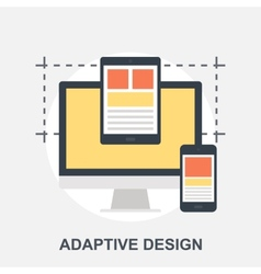 Adaptive Design vector image