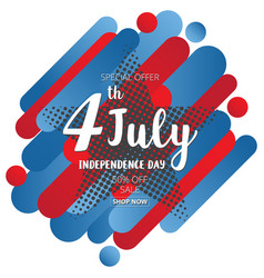 american independence day of 4th july on star vector image vector image