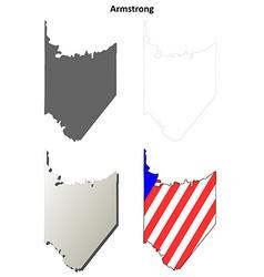 Armstrong map icon set vector