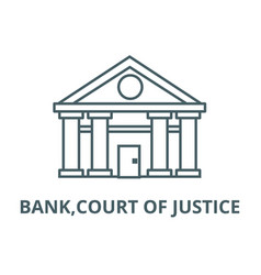bankcourt justice line icon bank vector image
