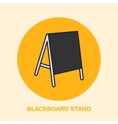 Blackboard stand line icon cafe menu outdoor vector