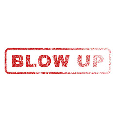 Blow up rubber stamp vector