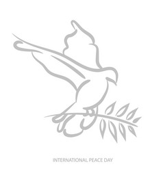 Blue background for international day of peace vector