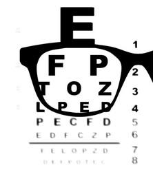 blurry eye test chart vector image