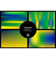 Brazil colors blurred backgrounds set vector