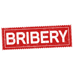 bribery grunge rubber stamp vector image