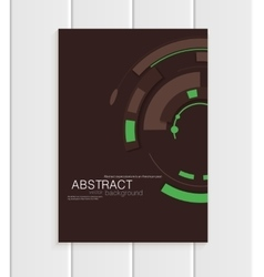 Brochure in abstract style with green vector