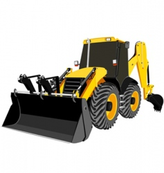 Bulldozer vector vector