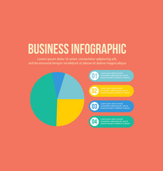 Business infographic concept step vector