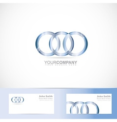 Circle rings joined logo vector image