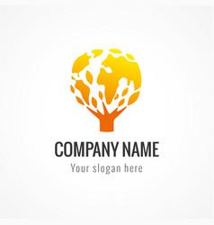 company globe logo gold vector image