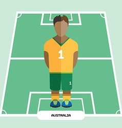 Computer game Australia Soccer club player vector