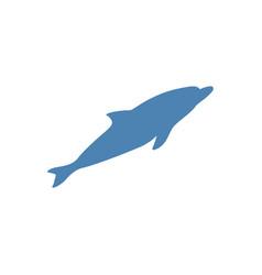 dolphin blue icon vector image