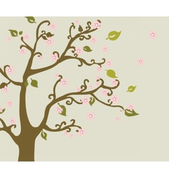 Eastern nature cherry blossom tree vector image