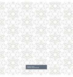 Elegant flower pattern on white background vector