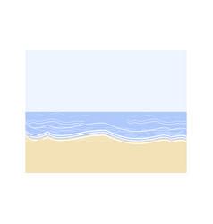 empty beach semi flat vector image
